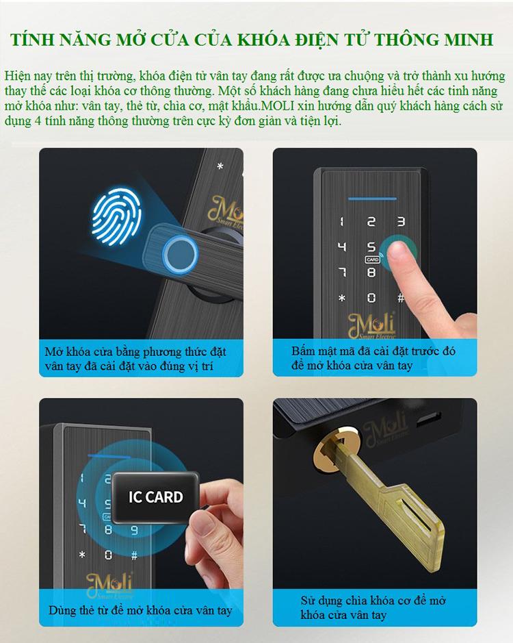 Nguyên lý hoạt động và cách thức mở khóa của khóa thông minh